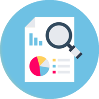 A pictogram showing a report for SEO analysis.